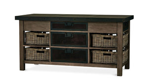 Bramble Co. Harrington Kitchen Island w/ Baskets - Accessories Essentials