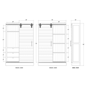 Bramble Co. Sonoma Kitchen Cabinet w/ Sliding Door - Accessories Essentials