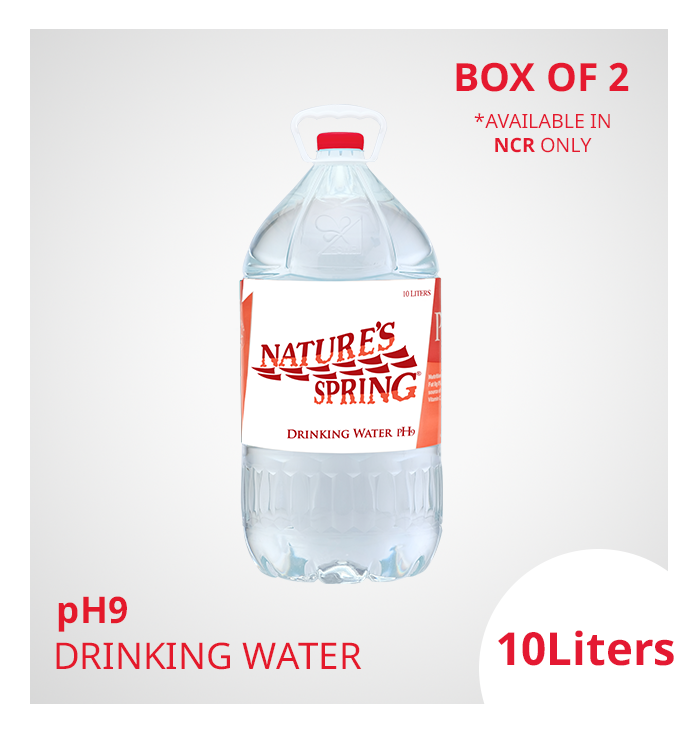 NCR only: Nature's Spring pH9 Drinking Water 10 Liters
