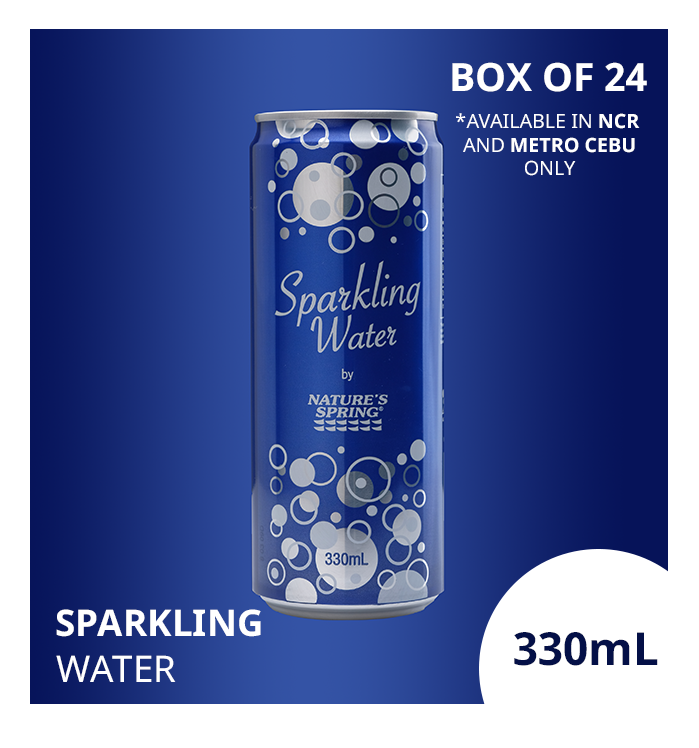 NCR & Cebu only: Nature's Spring Sparkling Water 330mL