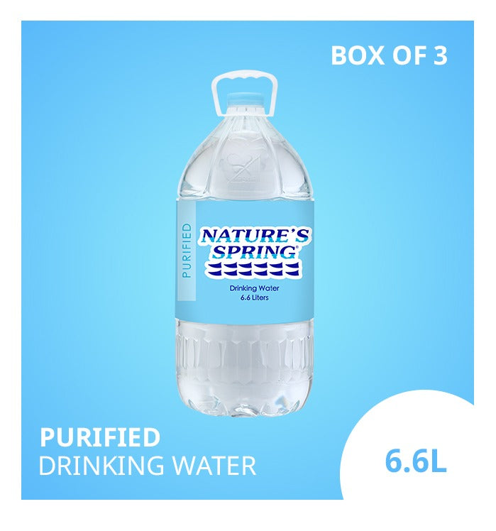 Nature's Spring Purified Drinking Water 6.6 Liters