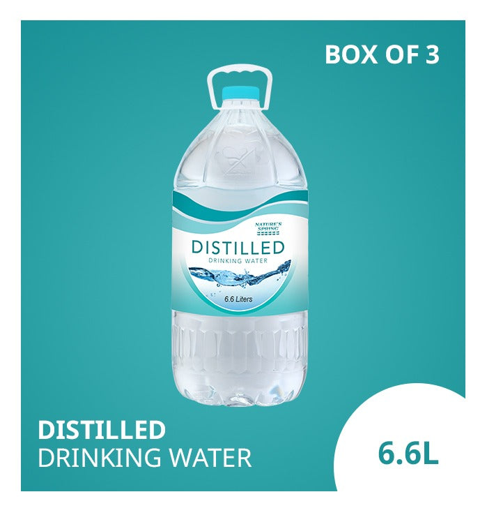 Nature's Spring Distilled Drinking Water 6.6 Liters