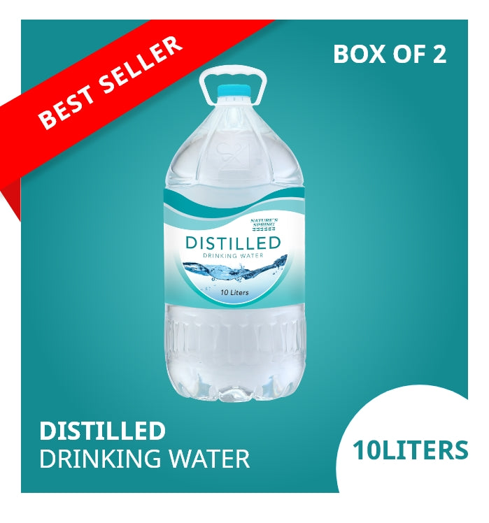 Nature's Spring Distilled Drinking Water 10 Liters