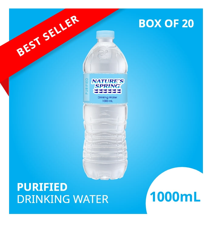 Nature's Spring Purified Drinking Water 1 Liter