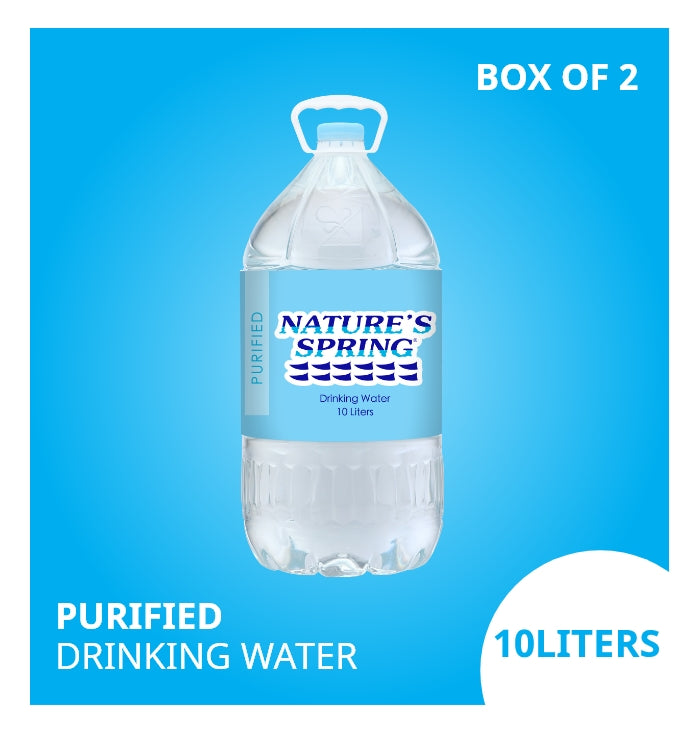 Nature's Spring Purified Drinking Water 10 Liters