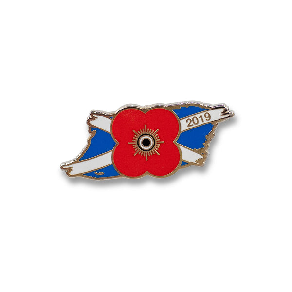 Poppyscotland Saltire 2019 Pin Badge F