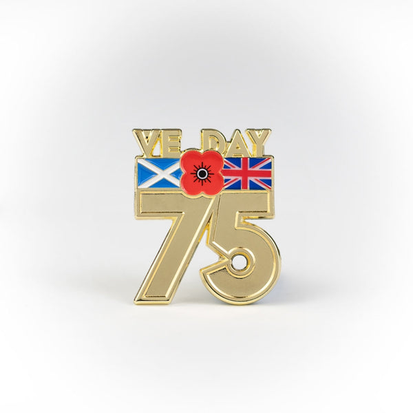Poppyscotland 75 VE Day Pin Badge
