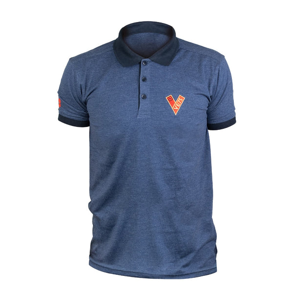 Poppyscotland Contrast VE Day Embroidered Polo Shirt