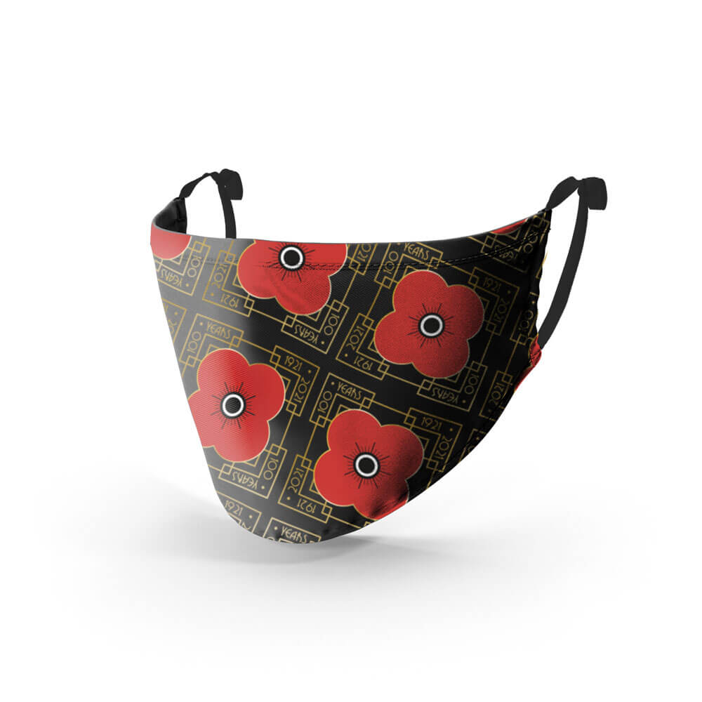 poppyscotland 100 years of poppy face mask
