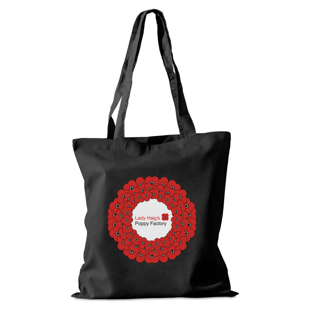lady haigs poppy factory cotton shopper
