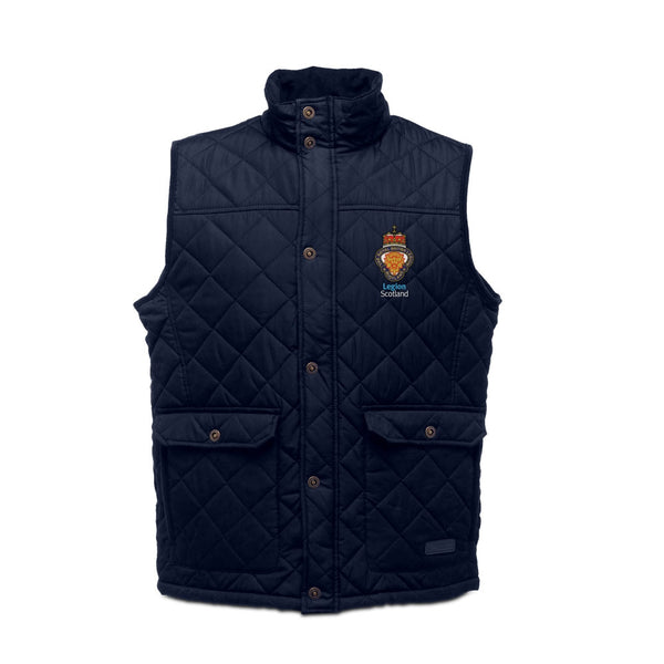 Legion Scotland Quilted Bodywarmer - Navy