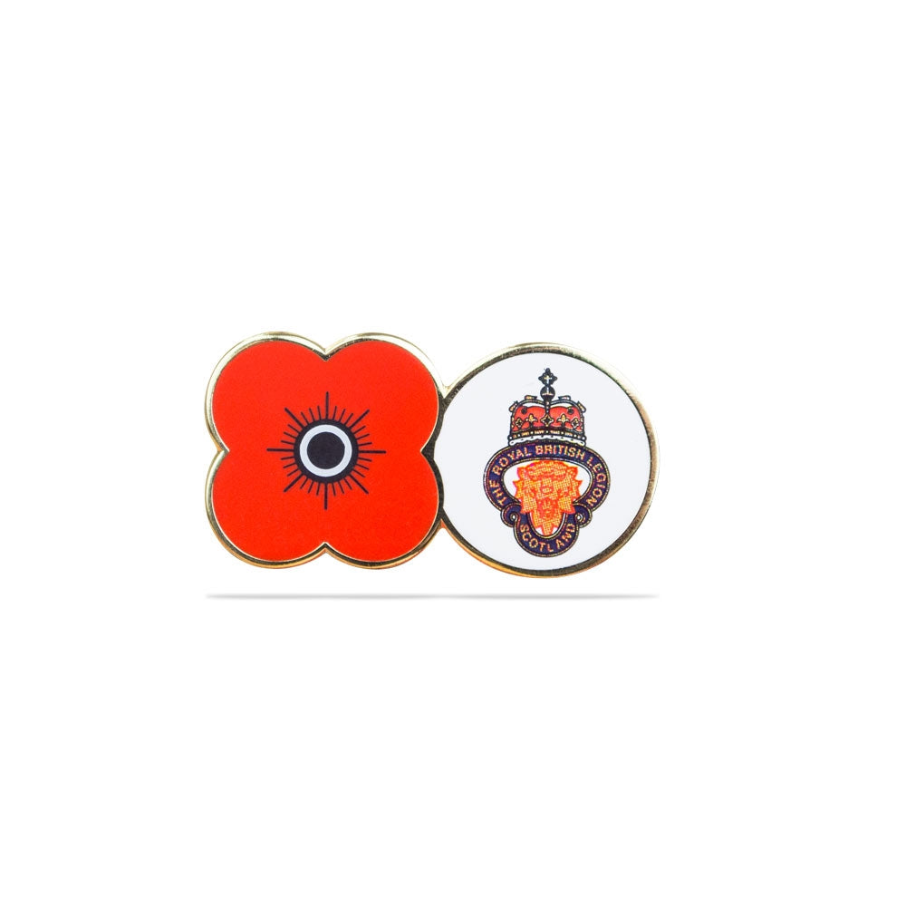 Legion Scotland Lion's Head Poppy Pin Badge