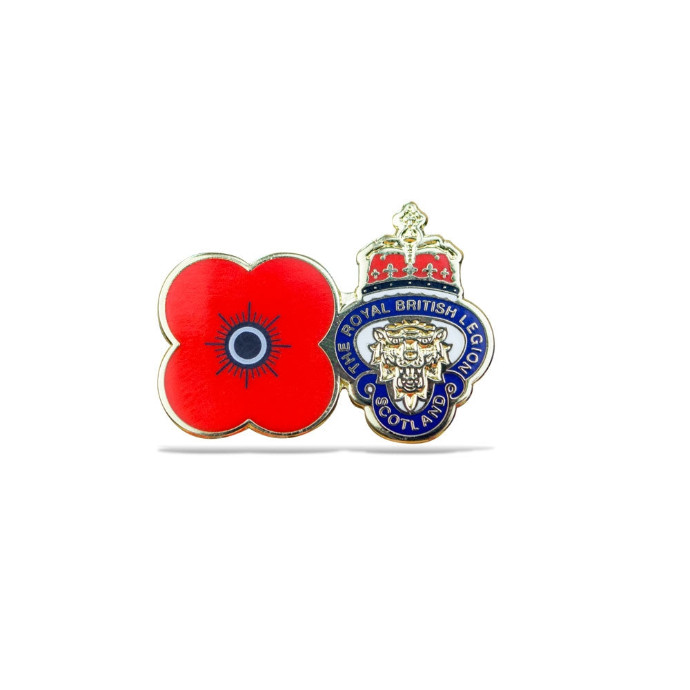 Poppy Lion's Head Pin Badge