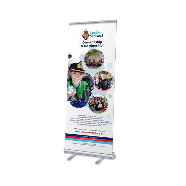 Legion Scotland Comradeship & Membership Pop Up Banner