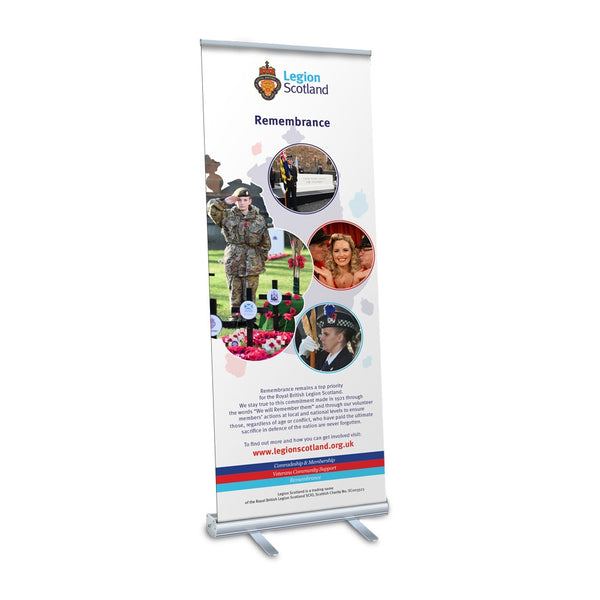 Legion Scotland Remembrance Pop Up Banner