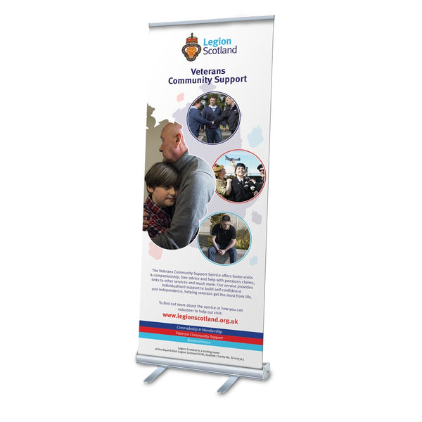 Legion Scotland Veterans Community Support Pop Up Banner