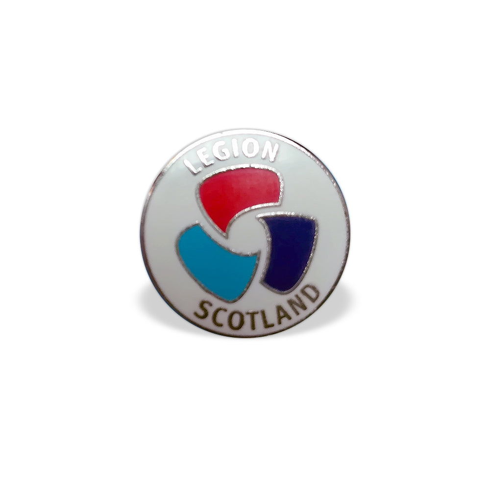 Legion Scotland Round Pin Badge