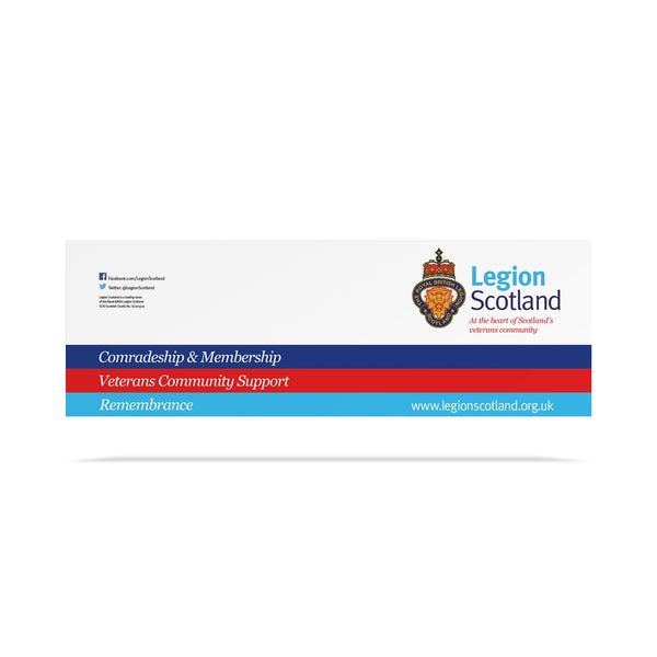 Legion Scotland Branded Tie on Banner