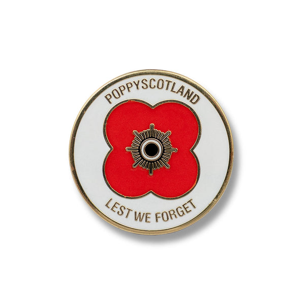 Poppyscotland Lest We Forget Badge H