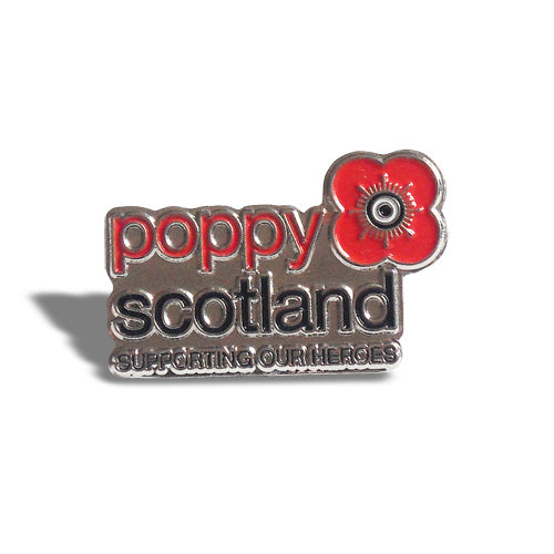 Shaped Poppyscotland Pin Badge