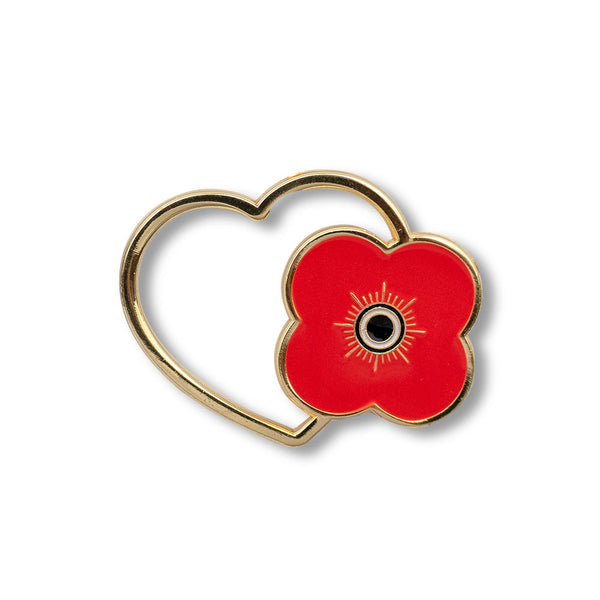 Poppyscotland Poppy Heart Pin Badge D