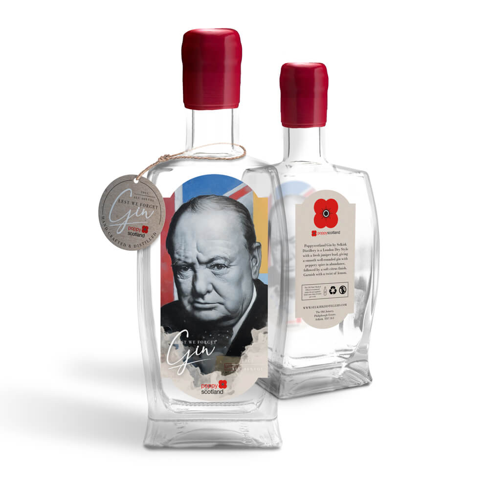poppyscotland lest we forget gin - churchill