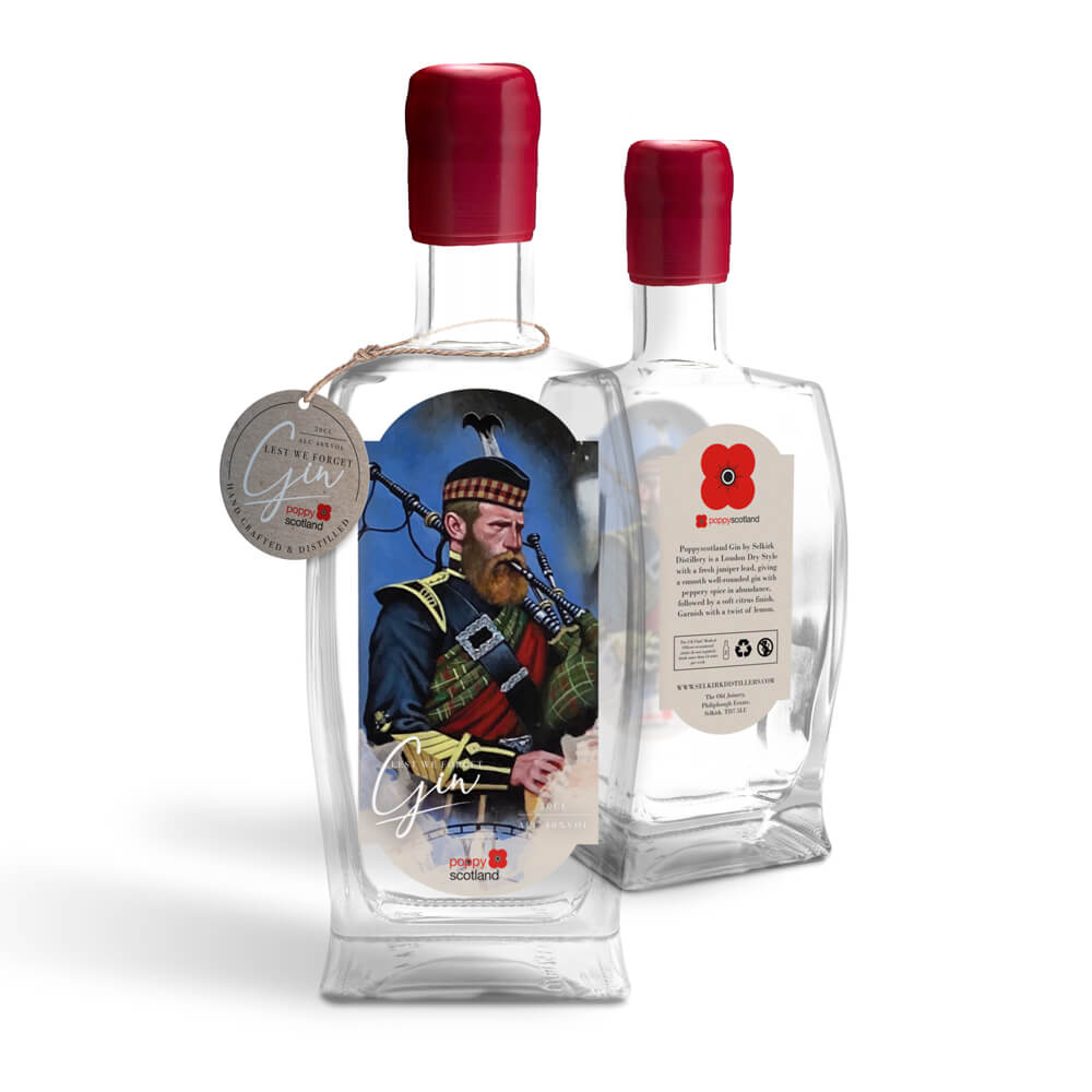 poppyscotland lest we forget gin - piper