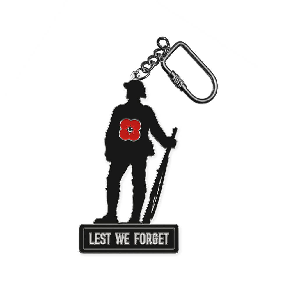 poppy scotland lest we forget soldier keyring