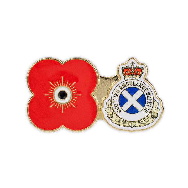 scottish ambulance service poppy badge - poppyscotland