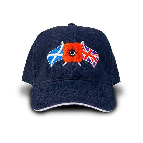 Poppyscotland Navy Embroidered Baseball Cap
