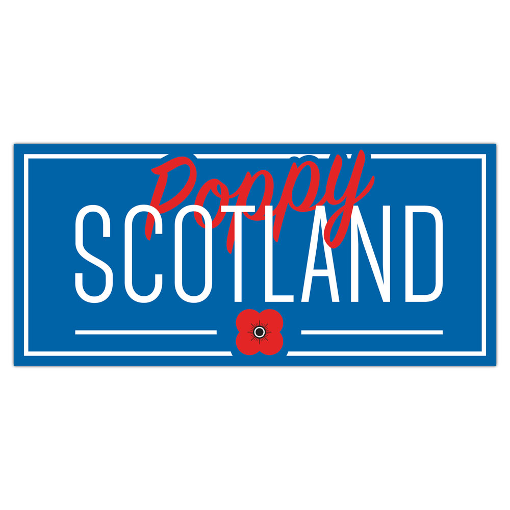 Poppyscotland Blue Car Window Sticker
