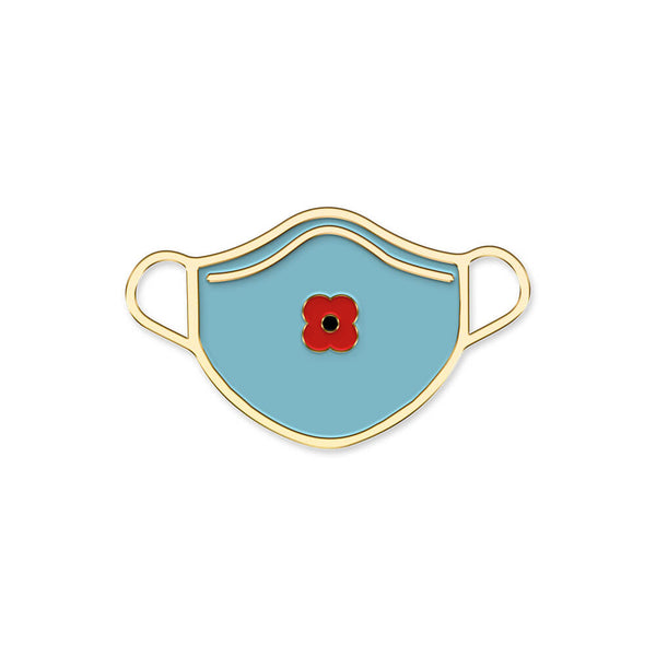 poppyscotland poppy face mask pin badge 20B