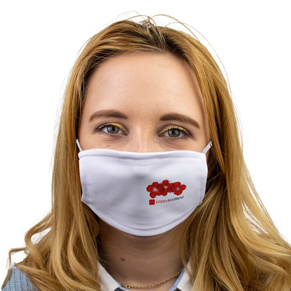 poppyscotland trhree poppies face mask
