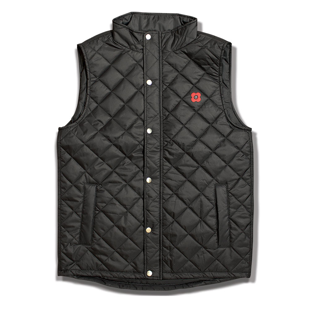 Poppyscotland Men's Diamond Quilt Gilet
