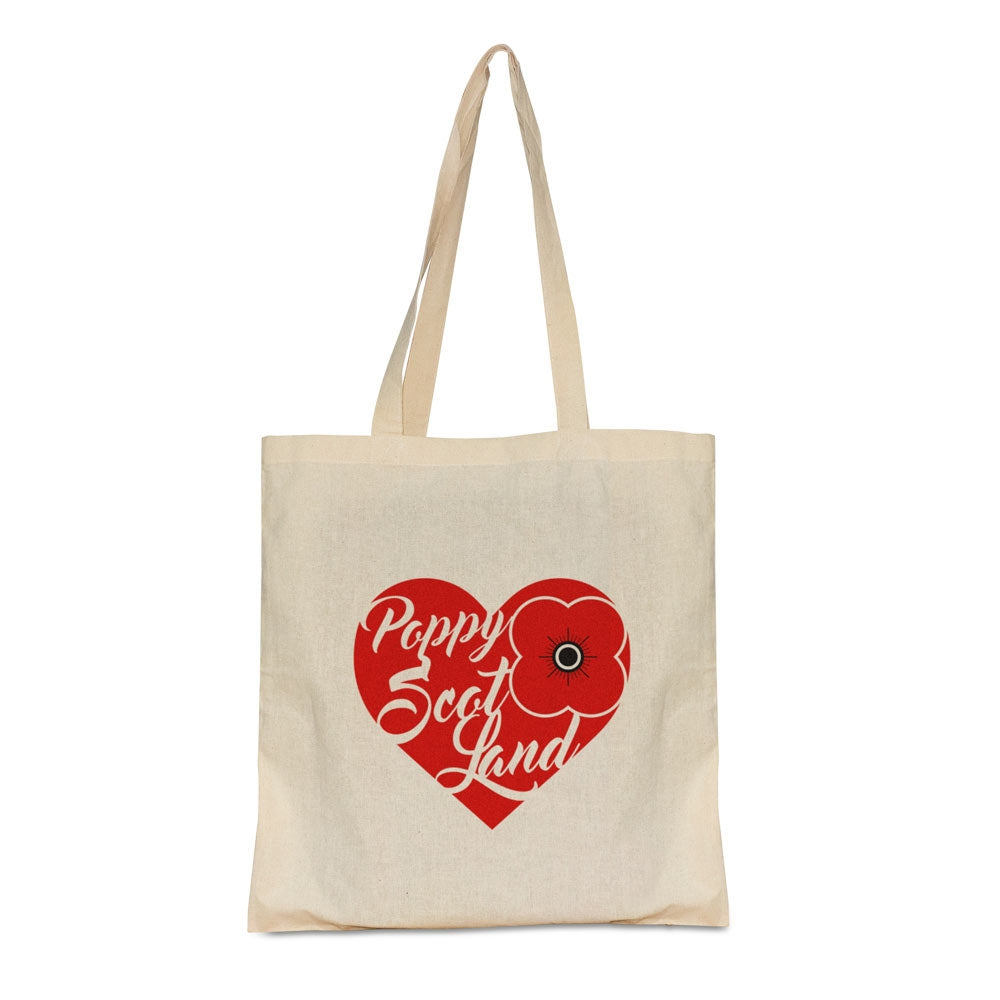 Poppyscotland Heart Cotton Shopper Bag
