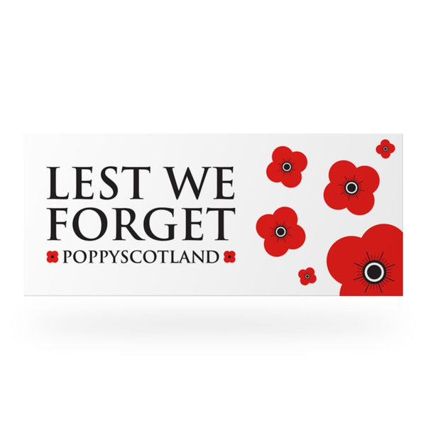 Poppyscotland Lest We Forget Car Bumper Sticker