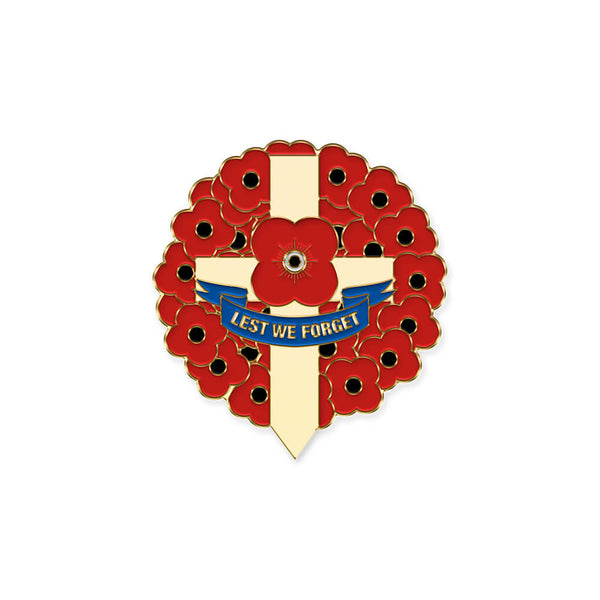 poppyscotland LWF wreath pin badge 20H