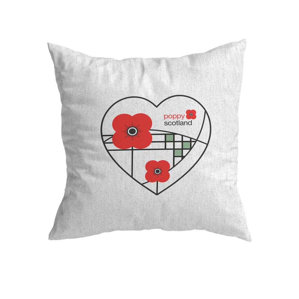 poppyscotland mackintosh style cushion cover
