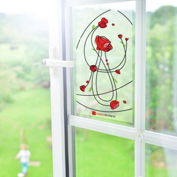 poppy scotland vinyl window decal