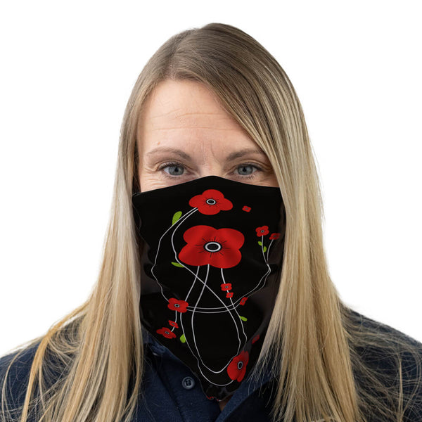 poppyscotland mackintosh style poppies multi-functional face covering