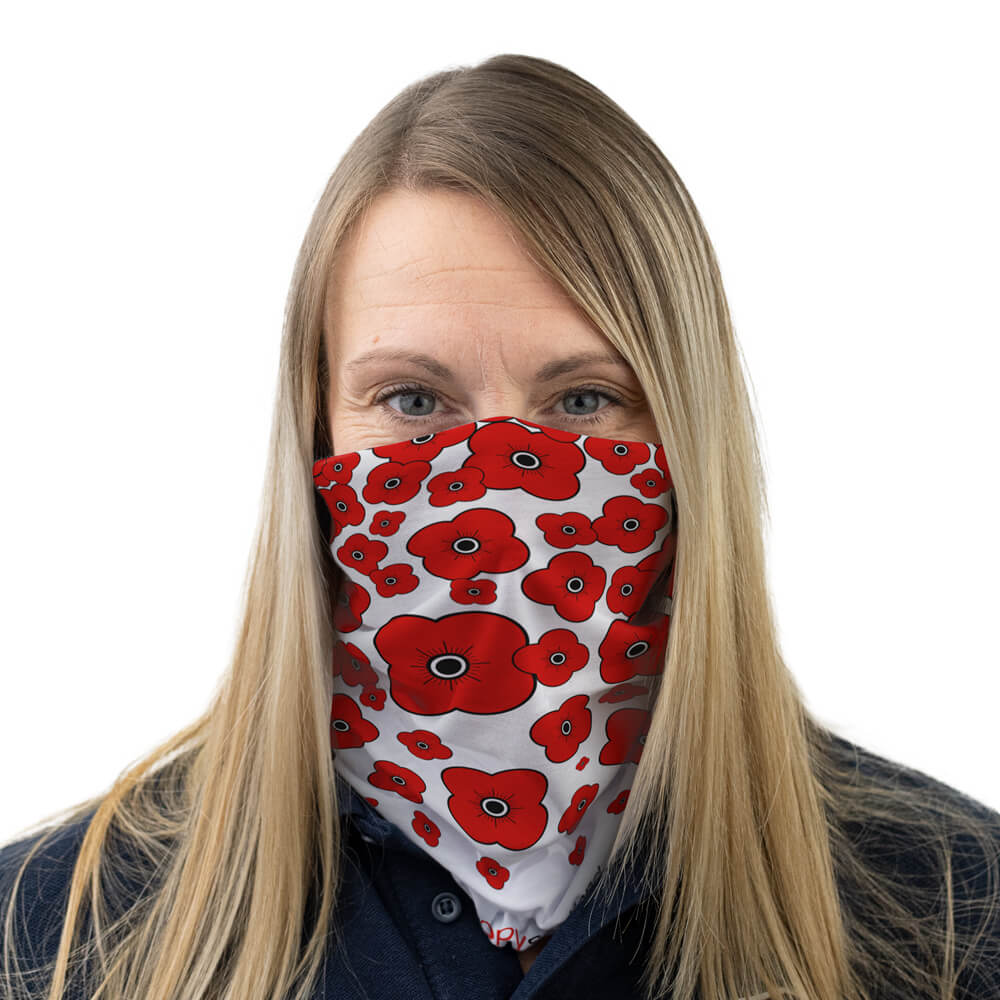 poppyscotland poppy cascade multi-functional face covering