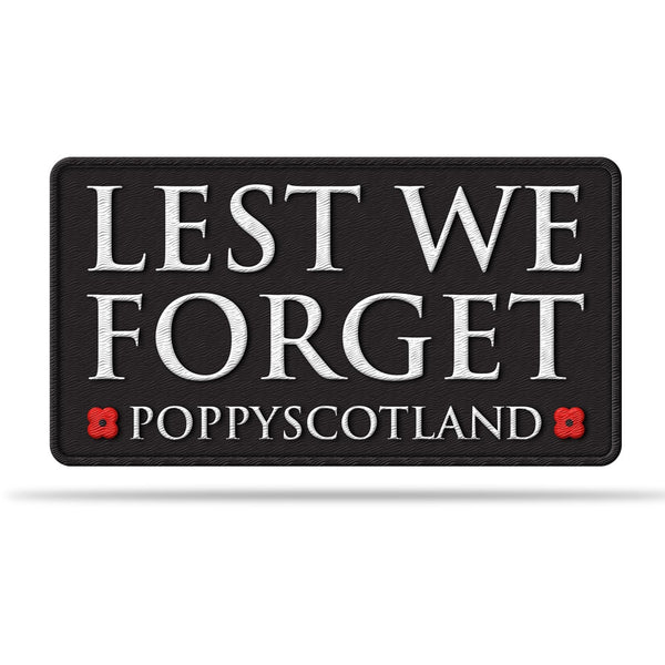 Poppyscotland Lest We Forget Patch