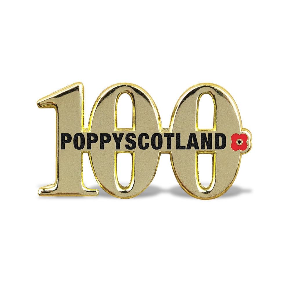 Poppyscotland Poppy '100' Pin Badge