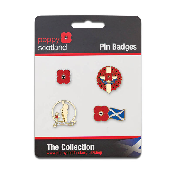 poppyscotland pin badge collection 2020