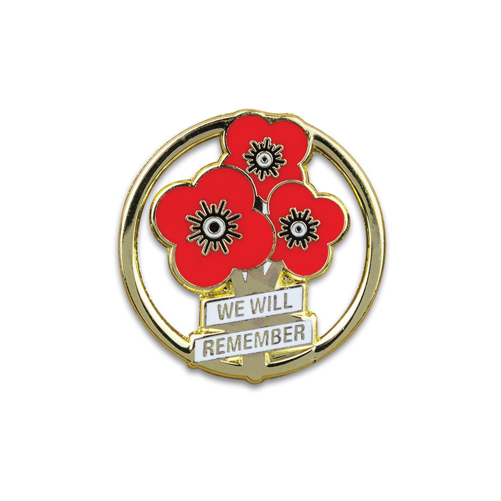 Poppyscotland Poppy Posy Pin Badge
