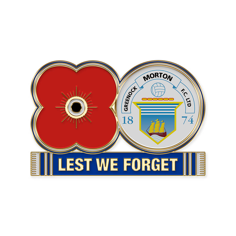 poppyscotland morton fc pin badge
