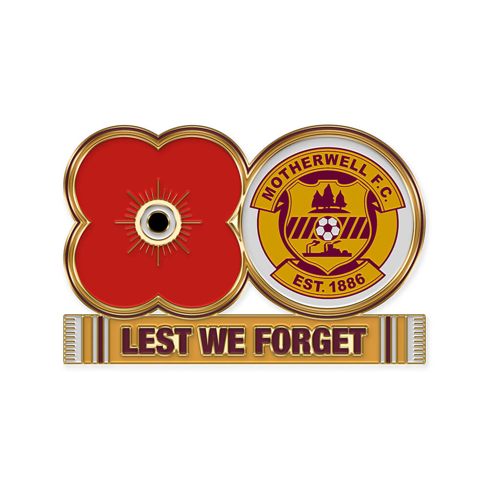 poppyscotland motherwell fc pin badge