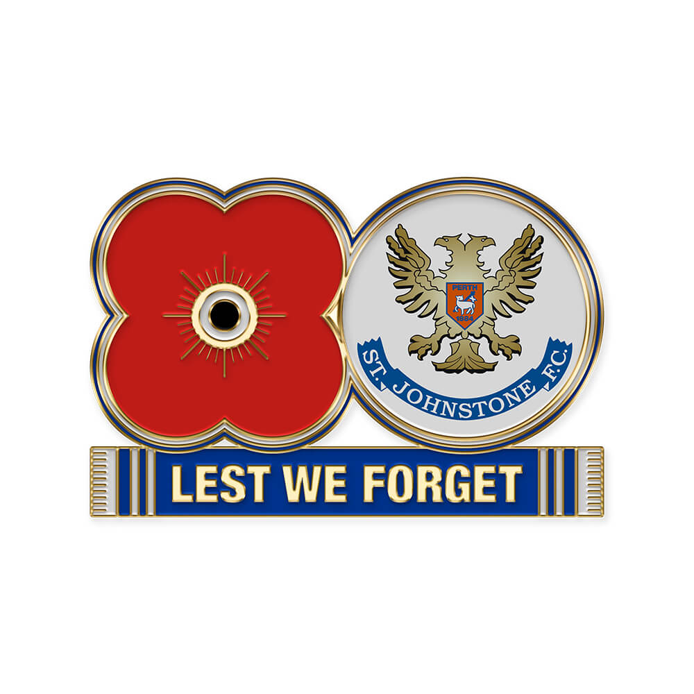 poppyscotland st. johnstone fc pin badge