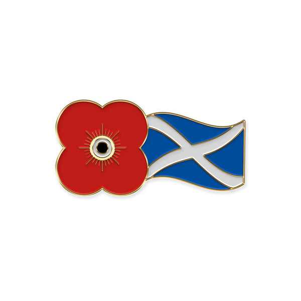 poppyscotland poppy and saltire pin badge 20J