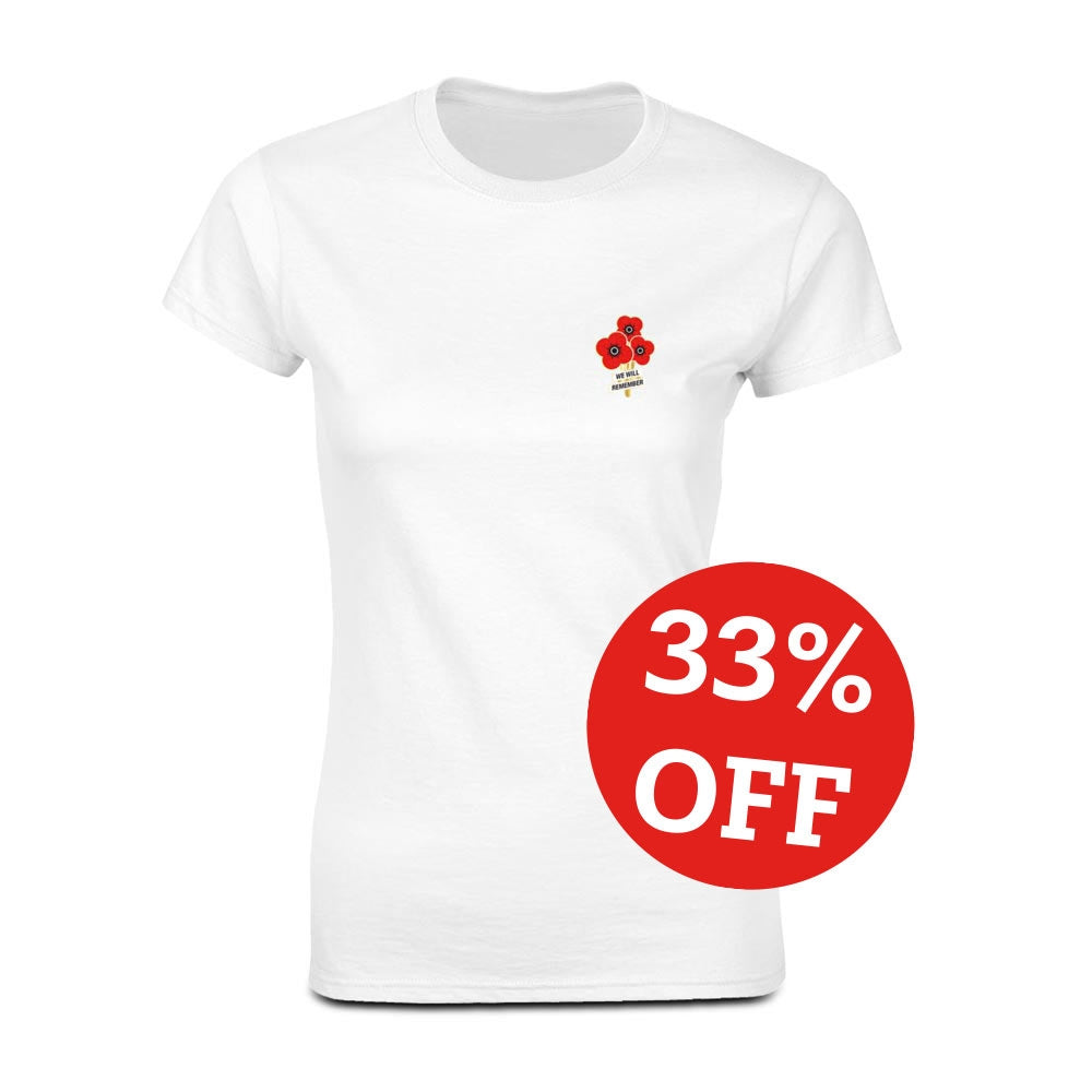 Poppyscotland Ladies Poppy Posy T-Shirt